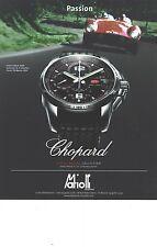PUBLICITE  2012  CHOPARD montre Classic Racing Collection chrono 1000 miglia