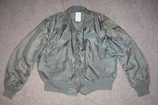 Military Flyer's Jacket Coat Large 42-44 US Army USAF Vintage 1980 Men Boys 126