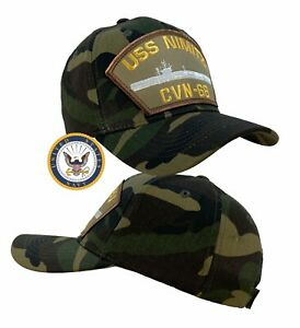 USS Nimitz Hat CVN-68 Hat Cap Camo w/Free Navy Sticker