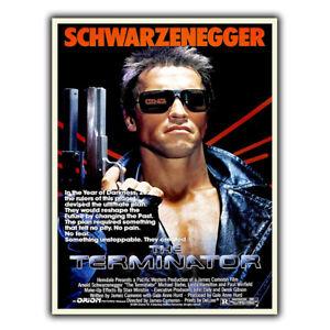 THE TERMINATOR METAL PLAQUE Film Movie Advert poster print man cave memorabilia