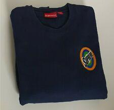 SS16 Supreme Spin Logo navy crewneck size L large sweatshirt