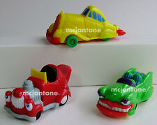 LOOSE LOT 3 Wendy's 1996 CARTOONS Car Toons STRETCH LIMO Lip Convertible Hot Rod