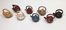 Miniature Ceramic Tea Pots Eight Handmade Cute looking