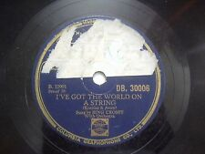 """BING CROSBY WITH ORCHESTRA DB 30006  RARE 78 RPM RECORD 10"""" VG+"""