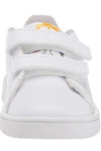 adidas Toddler Girls/Boy Advantage White/Orange Sneakers (EF0305) Sizes 9