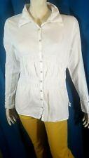 MAIS IL EST OU LE SOLEIL ? Taille 44 Superbe chemise blanche femme blouse