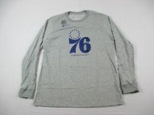 Philadelphia 76ers Nike Long Sleeve Shirt Women's Gray Cotton Dri-Fit NEW XL