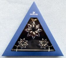 Set of THREE SWAROVSKI Crystal 2013 Annual Star Christmas Ornaments NEW IN BOX