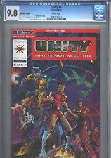 Unity #0 Red Logo Variant CGC 9.8 (1992) Valiant Rare
