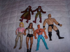 """2004 Wwe Girl 7"""" 1996 Man 6"""" One Unmarked Wrestling Cowboys 5"""" Action Figures"""