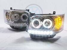 For TOYOTA Hiace Van 2011-2013 COB Angel-Eye DRL LED Projector Headlights Lamp H