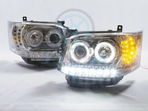 For TOYOTA Hiace Van 2011-2013 COB Angel-Eye DRL LED Projector Headlights Lamp H