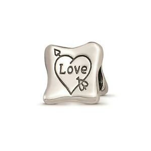 Reflection Beads Sterling Silver 3-Sided Love Marriage Family Trilogy Bead
