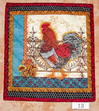 """New listing Pick 1 or 8 """"Prized Poultry"""" Handmade Quilted Insulated Trivet"""