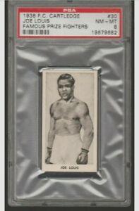 1938 F.C. Cartledge #30 Joe Louis PSA 8 NM-MT Famous Prize Fighters Boxing