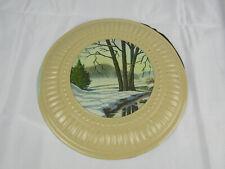 """Vintage J. L. Clark 8 1/2"""" Gem Flue Stopper Tin Lithograph Cottage / Cabin Decor"""