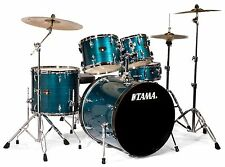 Tama drums set IMPERIALSTAR 5 pc Hairline Blue with Hardware + Meinl Cymbals NEW