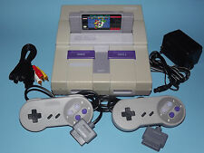 SUPER NINTENDO SNES SYSTEM COMPLETE WITH 2 CONTROLLERS, SUPER MARIO & GUARANTEE