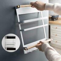 Kitchen Refrigerator Side Storage Holder Magnetic Organizer Rack Shelf L7F0