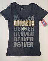 Denver Nuggets Women's Short Sleeve Mesh Burnout T-Shirt | SZ Medium | NWT