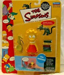 Simpsons Playmates: LISA SIMPSON with Snowball II, saxophone, textbooks NIB!
