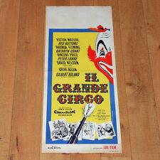 IL GRANDE CIRCO locandina poster Victor Mature Red Buttons Pagliaccio Clown F22