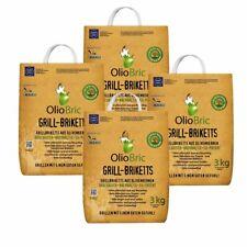 OlioBric 12kg Grillbriketts   Oliventrester Grillkohle   nachhaltig   kein Rauch