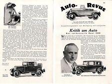Der verbesserte Opel 1930 Kritik am Auto von Wolfgang v.Langerke von1930
