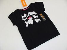Gymboree Posh and Playful Poodle Puppy Top Shirt Girls Size 2T Dog NWT Black