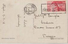 ITALIA 1938 ANNULLO MECCANICO  FÜHRER- DUX SU CARTOLINA DA NAPOLI X VIAREGGIO