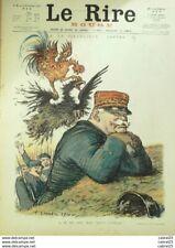 """REVUE """"LE RIRE ROUGE""""-1914-  5-JOFFRE-LEANDRE,METIVET,HUART,FLORES,FABIANO"""