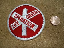 Vintage Operation Life Saver Patch New Old Stock