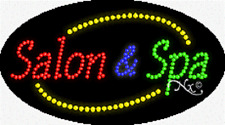 "New ""Salon & Spa"" 27x15 Oval Solid/Animated Led Sign w/Custom Options 24071"