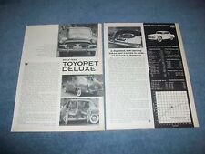 1958 Toyopet Crown Deluxe Sedan Vintage Road Test Info Article Toyota