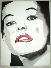 Lienzo Milla Jovovich B&W Arte 16x12 pulgada de acrílico