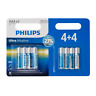 Philips AA AAA Batteries Ultra Power Alkaline Battery Pack of 8 Long Life 1.5V