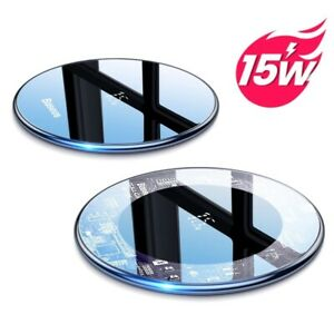 Wireless Charger Aluminum Alloy Indicator Charging Pad For Samsung Xiaomi Huawei