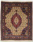 Rare Floral Fish Mahi Design Square 3X3 Oriental Rug Handmade Extra Fine Carpet