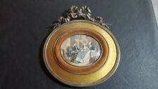 Antique old  Hand painted  on celluloid - miniature -
