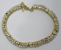 Vintage Jewelry Trifari Necklace Rhinestones Goldtone 1960s