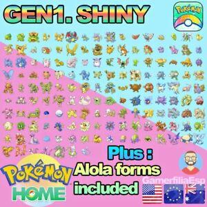 GEN1 FULL 151 Pokémon Shiny Variocolor + Alola form ✅HOME PREMIUM LEGAL GENUINOS