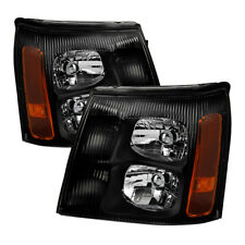 Cadillac 02 Escalade Base / EXT Black Housing Replacement Headlights Pair