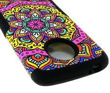 For Motorola Moto E5 Play / E5 Cruise - Hybrid Kickstand Armor Case Henna Flower