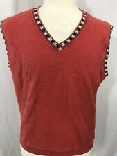 Cyrk Clothing Company Mens Golf Sweater Vest Large/Medium Vtg Sleeveless Cotton
