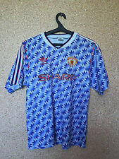 RARE MANCHESTER UNITED ENGLAND 1990/1992 AWAY FOOTBALL SHIRT JERSEY MAGLIA UMBRO
