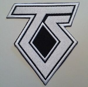 """Twisted Sister~TS~Patch~Embroidered~4 5/8"""" x 4 1/8""""~Iron or Sew on~Hair Metal"""