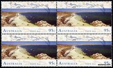 1993 World Heritage Sites 95c Shark Bay Block of 4 MUH Mint Stamps Australia