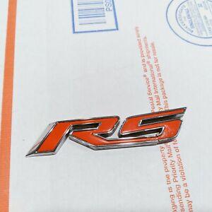 ✅ CHEVY CRUZE RS EMBLEM 10-16 GENUINE OEM RED/CHROME DOOR BADGE sign symbol logo