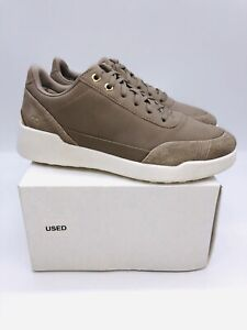 Ryka Women's Paola Lace-Up Sneakers - Dusty Taupe Leather US 8W / EUR 38  #F-10