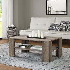 [en.casa]® Couchtisch Eiche Altholz 100x60cm Wohnzimmertisch Beistelltisch Holz